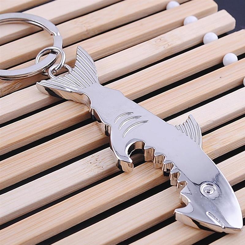 Акула формы брелок цепь универсальная бутылка консервный нож консервный нож мультидом an54 52 an57 4