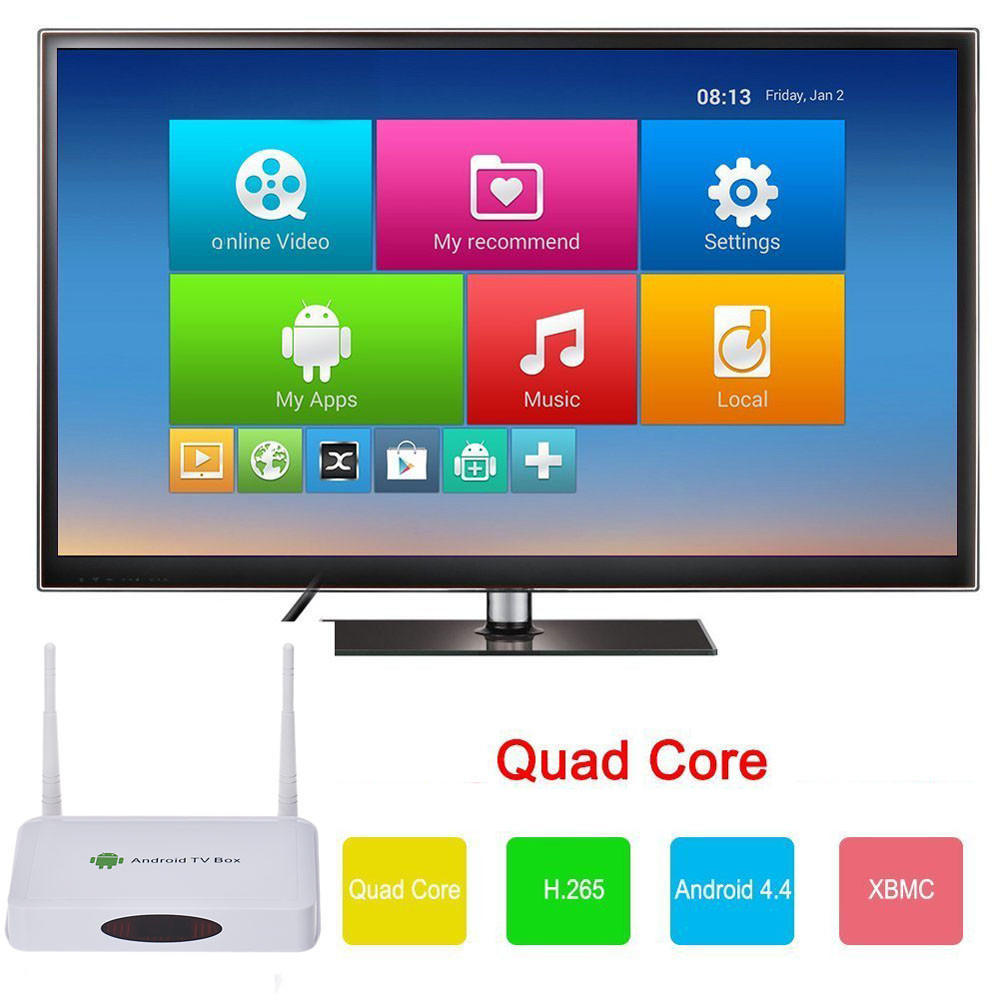 Горячие Quad Core Android 4.4 WIFI Mini PC 1080P HDMI смарт Android TV BOX для домашнего офиса xcy mini pc core i3 6100u hd graphics 520 2 30ghz dual core gaming pc htpc 4k hdmi tv ddr4 300m wifi windows 10 fanless