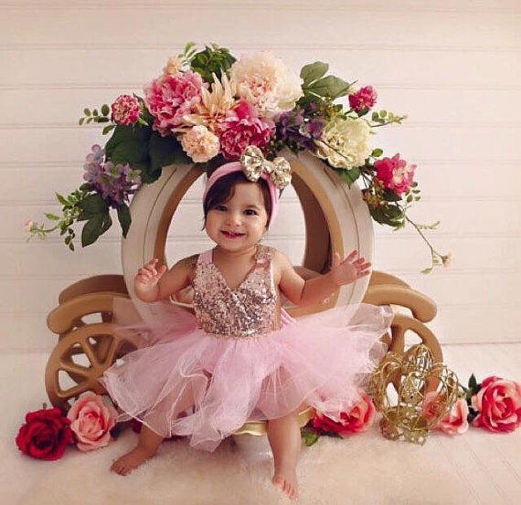 Блестками новорожденных детей девочек тюль пачка цветочные платья спинки платья платья для девочек