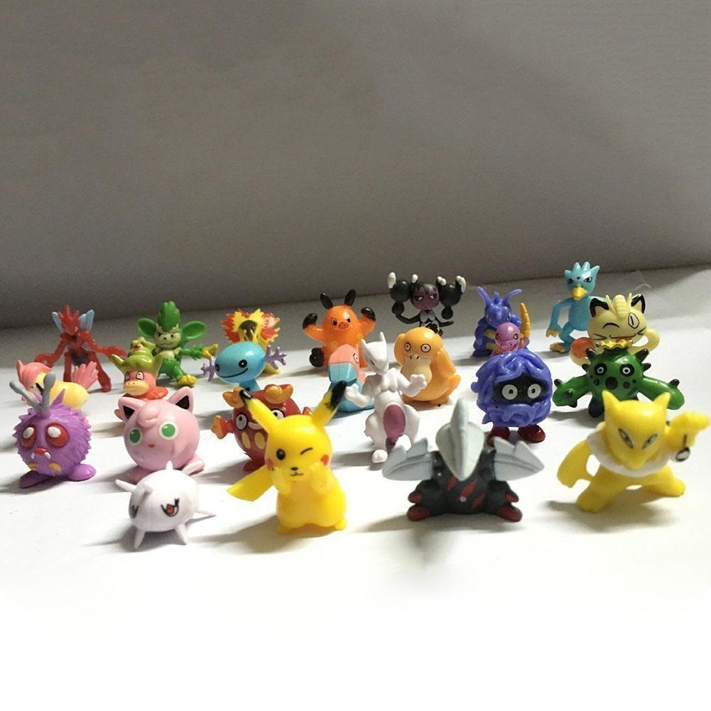 Оптовая торговля смешанных много покемон рисунок Pikachu монстр мини случайный Перл игрушка конца...