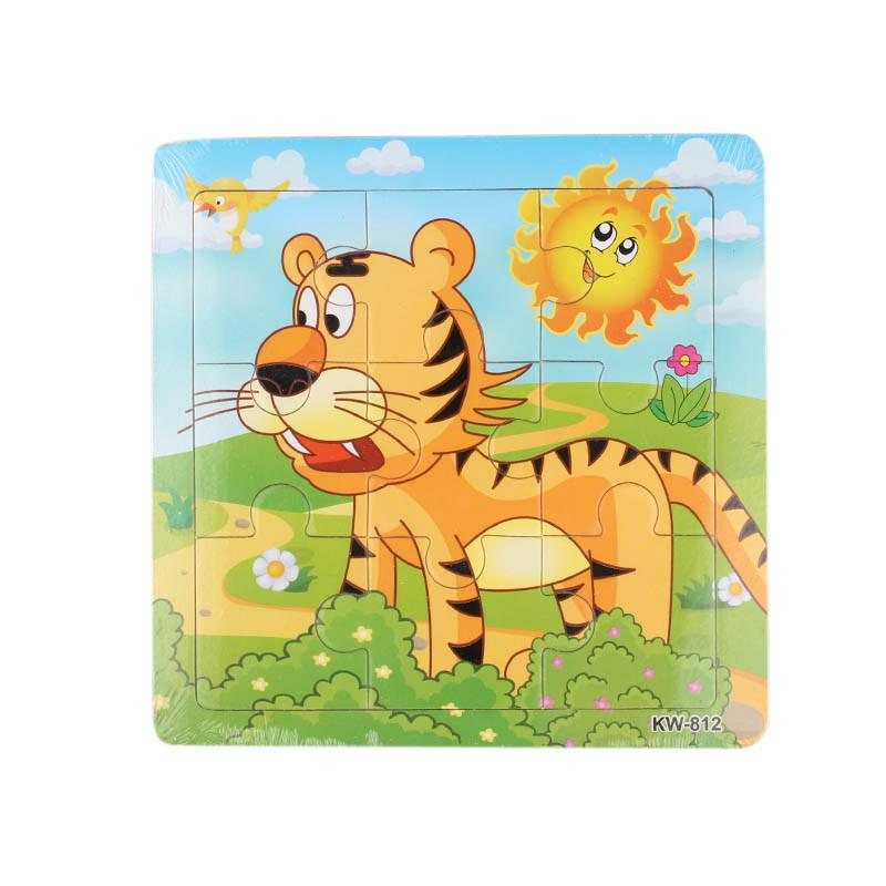 Деревянные Тигр головоломки игрушки для детей образования и обучения, головоломки игрушки игрушки для детей