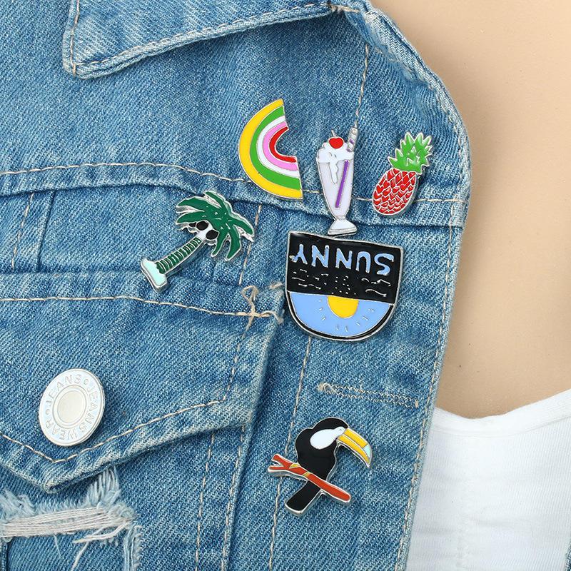 6Pcs/горячие персонализированных воротник булавки для рубашки женщин девочек моды ювелирные издел...