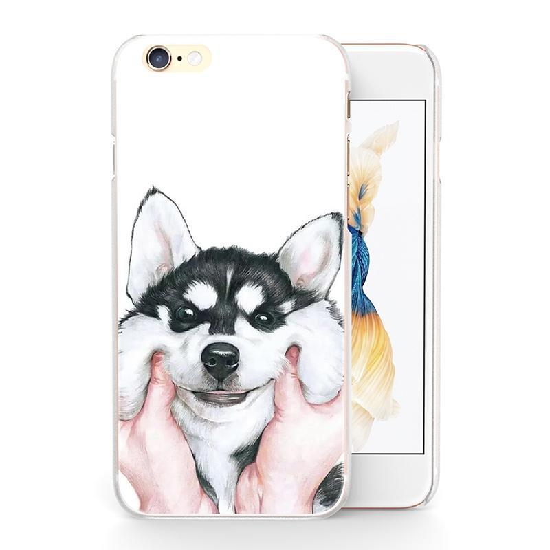 Сталкиваются ущипнул Сибирский хаски собака Пластиковый чехол пазл сибирский хаски 360 элементов плакат 03615