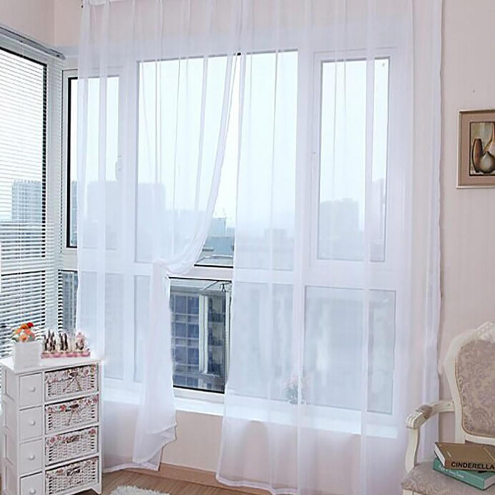 Простой дизайн тюль шторы для гостиной балкон прозрачный тюл.