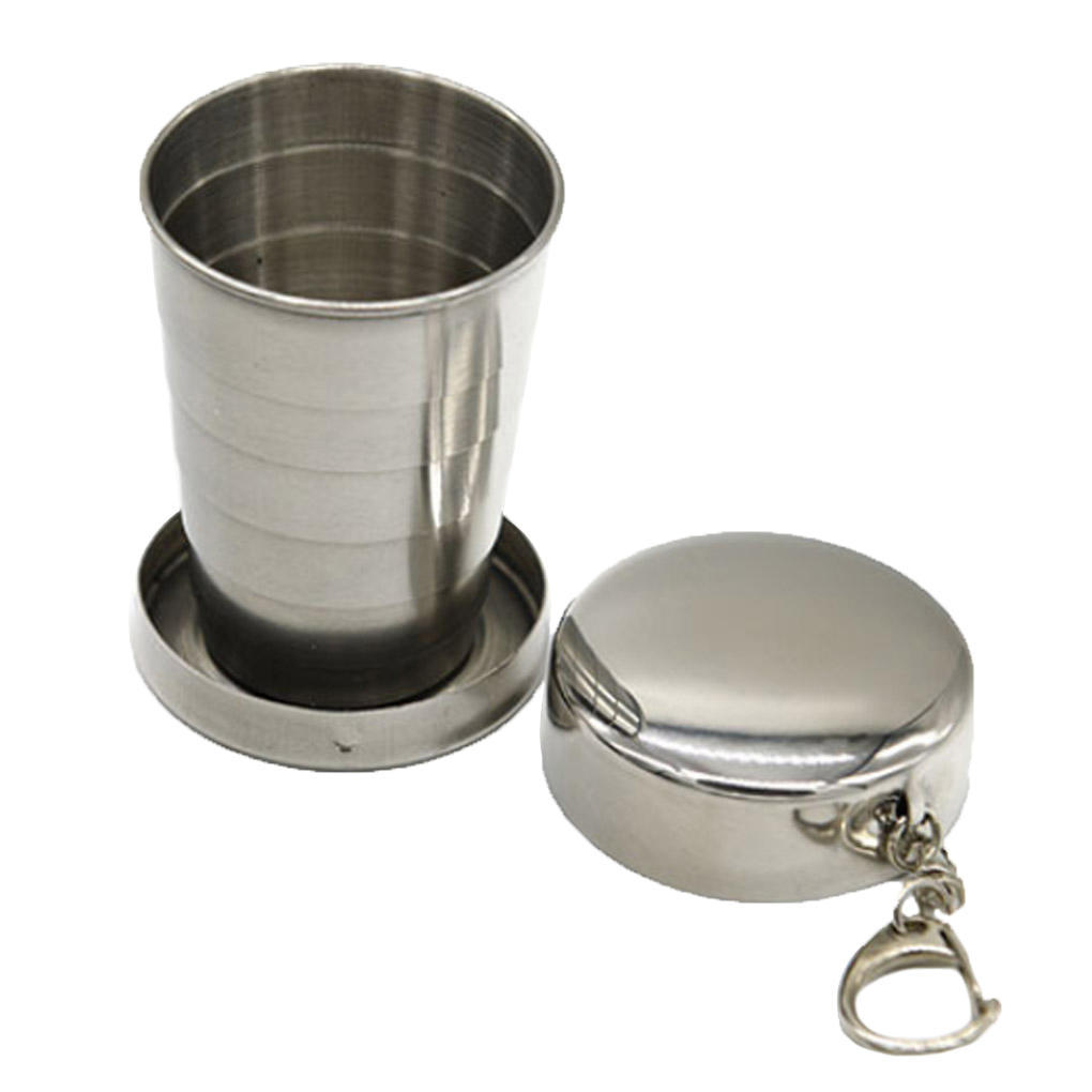 Все нержавеющая сталь складной выдвижные Кубок складной Кубок Блэкджек выдвижные дождеватели