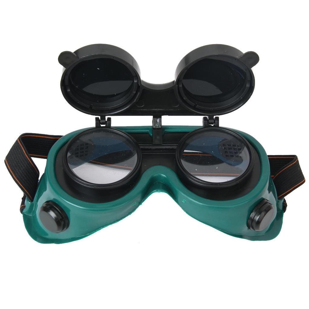 Зелёный флип вверх объектив глаз очки сварочные очки