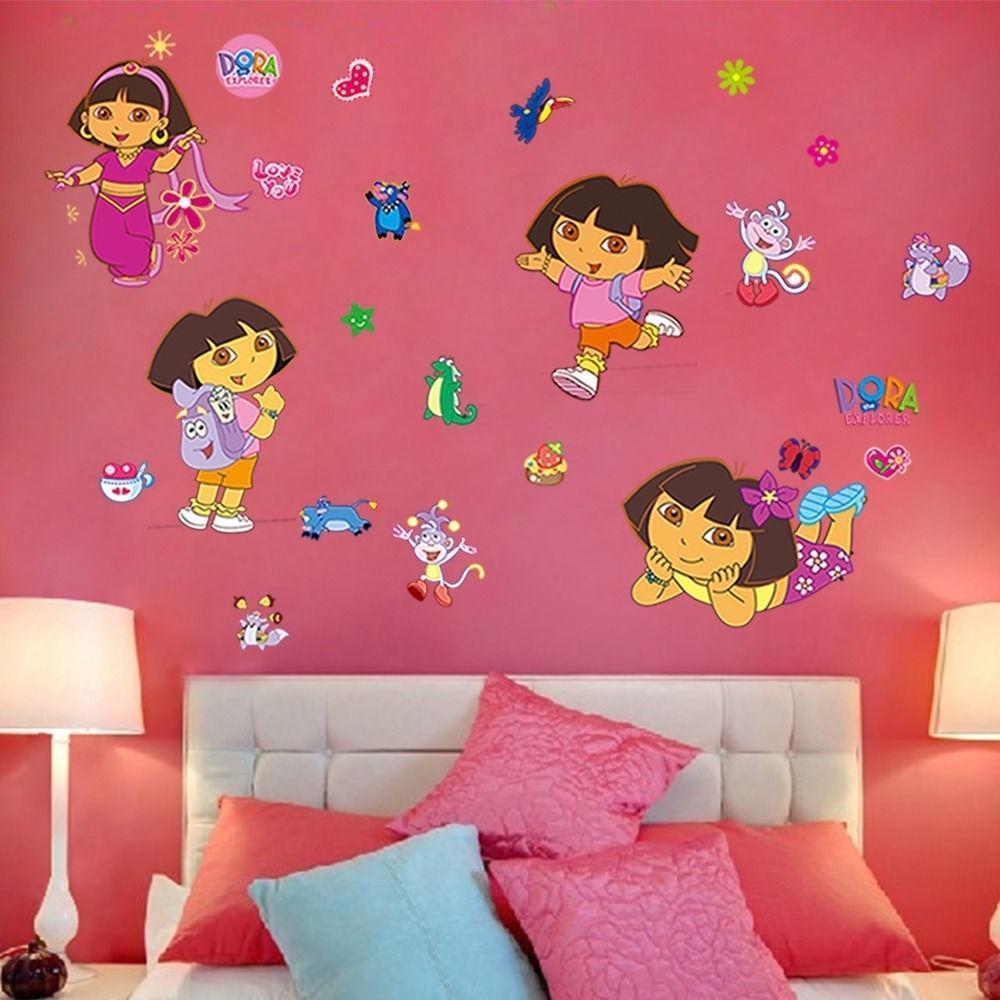 Дора Explorer сапоги обезьяна росписи стены стикер отличительные знаки девочек детские комнаты декор htc explorer б у