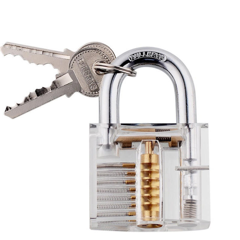 Скидка замок навесные замки для подготовки слесаря блокировки тренера с 2 ключами хорошо для начи... скидка