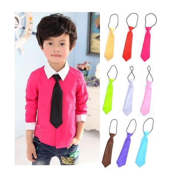 Школа для детей дети мальчиков Baby свадебный цвет упругих новый галстук галстук