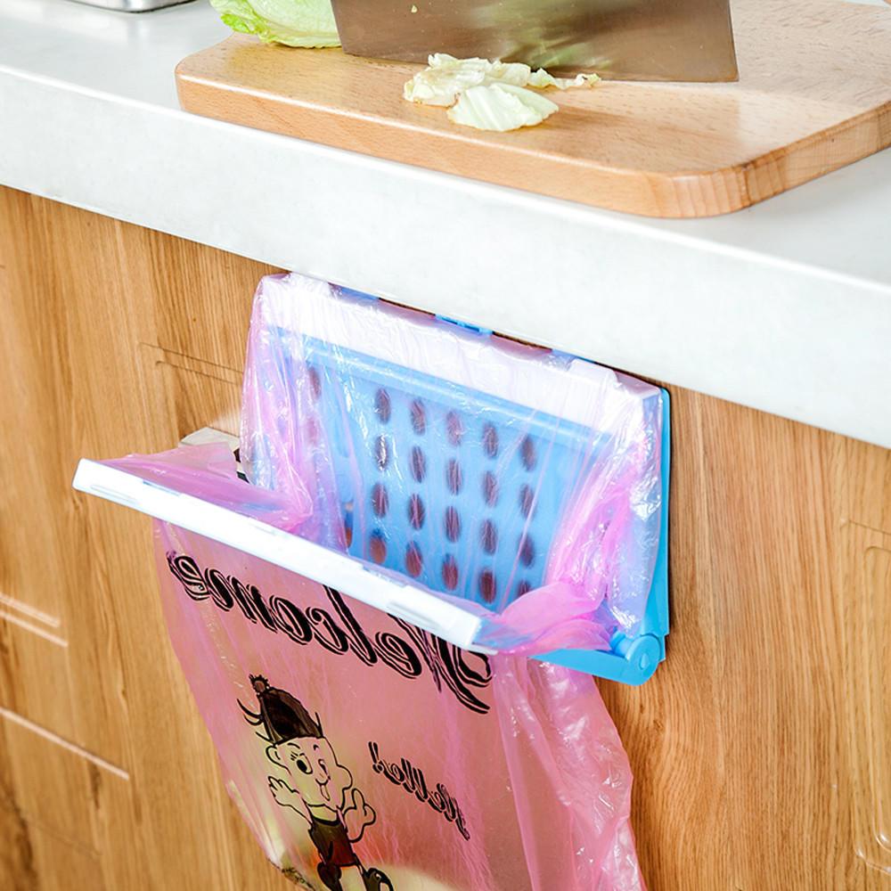 Портативный кухни мусор мешок держатель инкогнито шкафы ткани стойки вешалка для полотенец