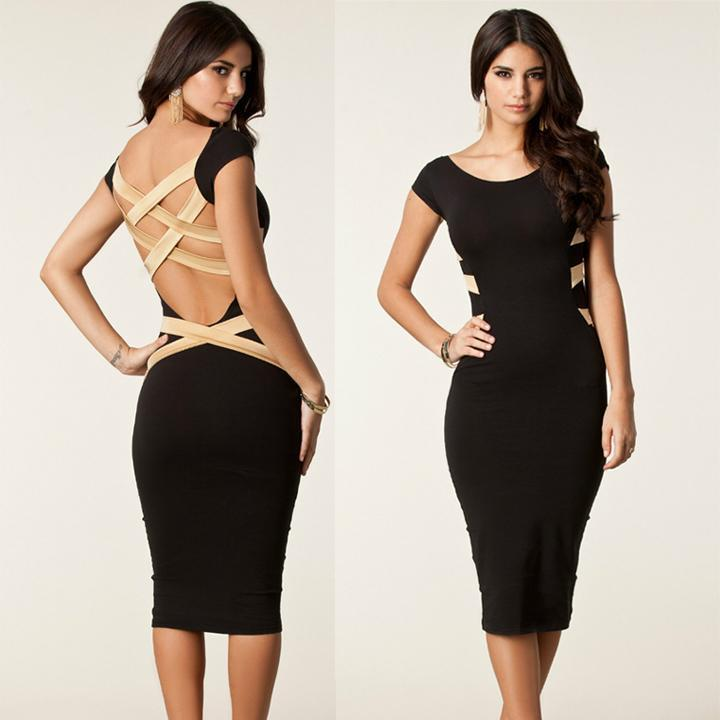Msion женщин колено платье Bodycon повязку платье знаменитости знаменитости в челябинске
