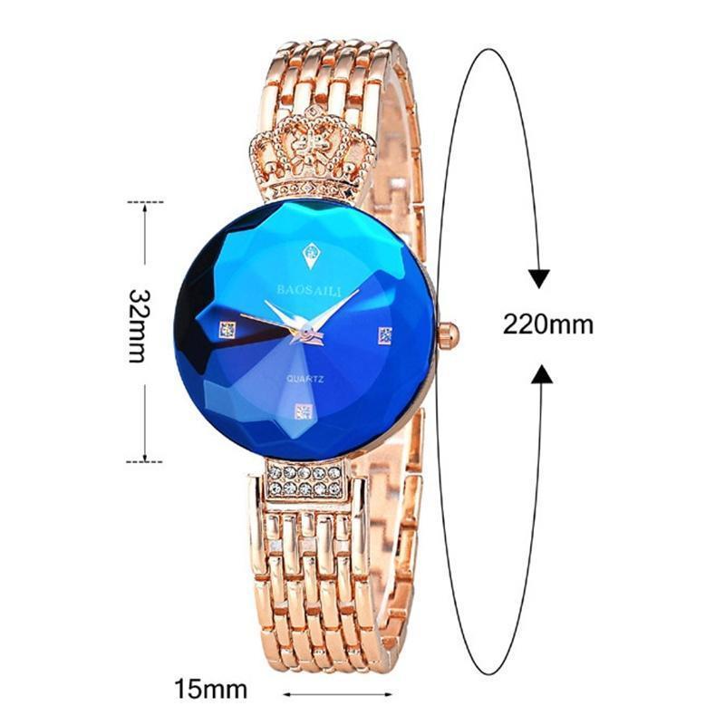 Новые моды женские золотые часы Часы из нержавеющей стали кварцевые наручные часы