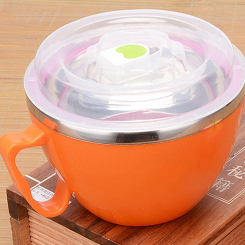 Чаша обед Box салат мгновенное лапши из нержавеющей стали чашу кухонная посуда посуда кухонная