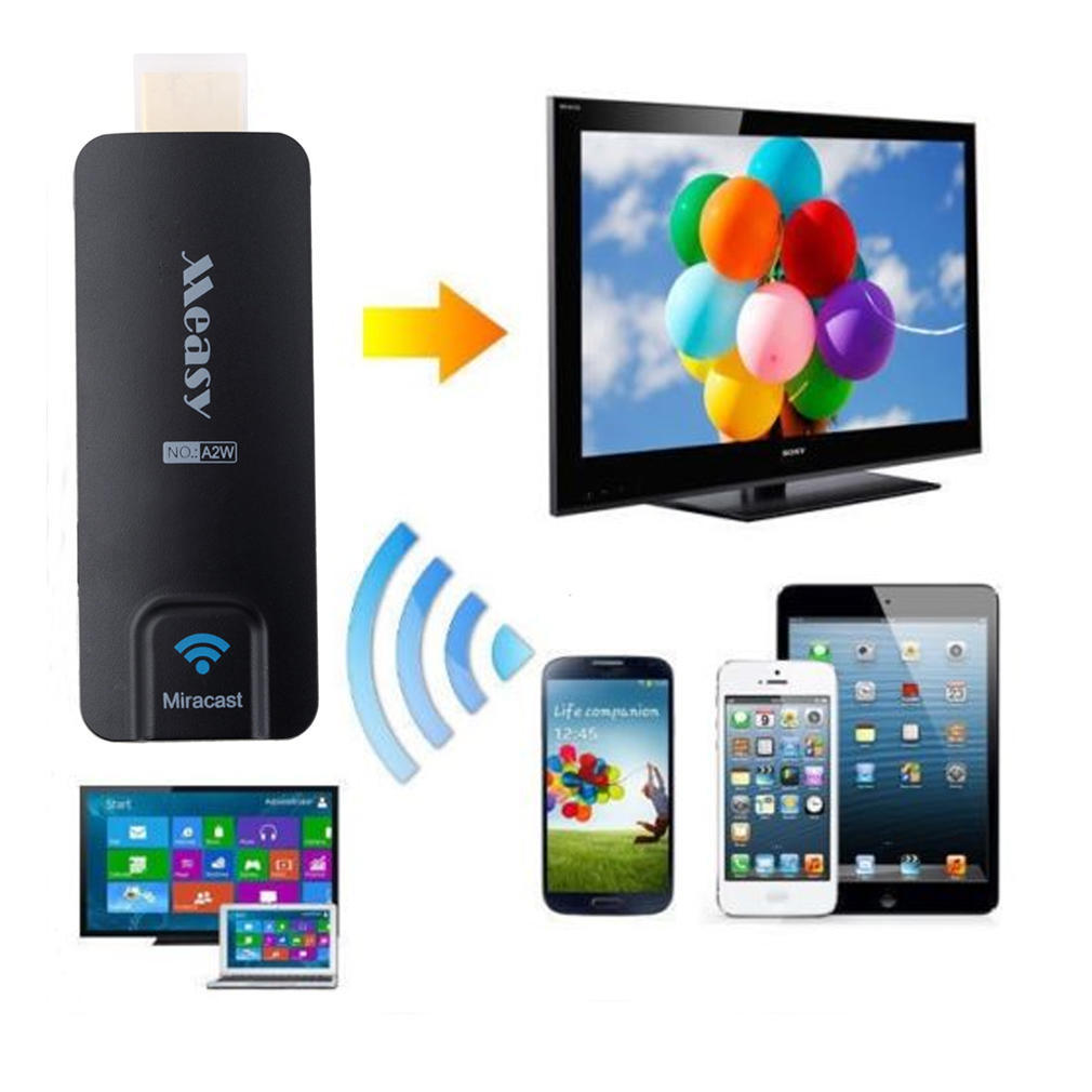 Новый A2W Miracast TV AirPlay Dongle DLAN Airplay HDMI WIFI новые hd wifi дисплей приемник dlna airplay miracast dlan dongle hdmi 1080p