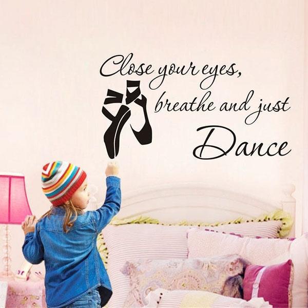 Таблички балерина виниловые наклейки девушка балета обуви танец Pointes декор стен декор для стен
