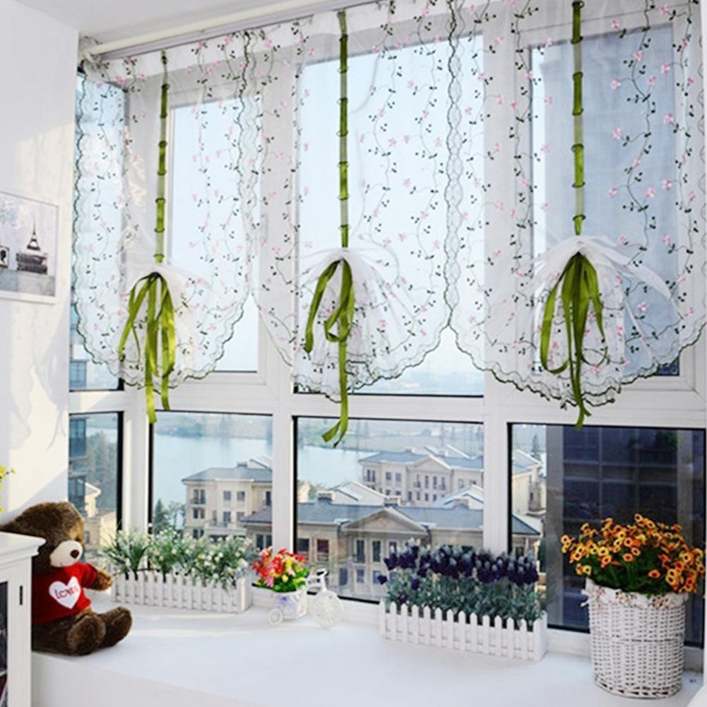 1шт цветка тюль двери окна занавес драпировка группа чисто v.