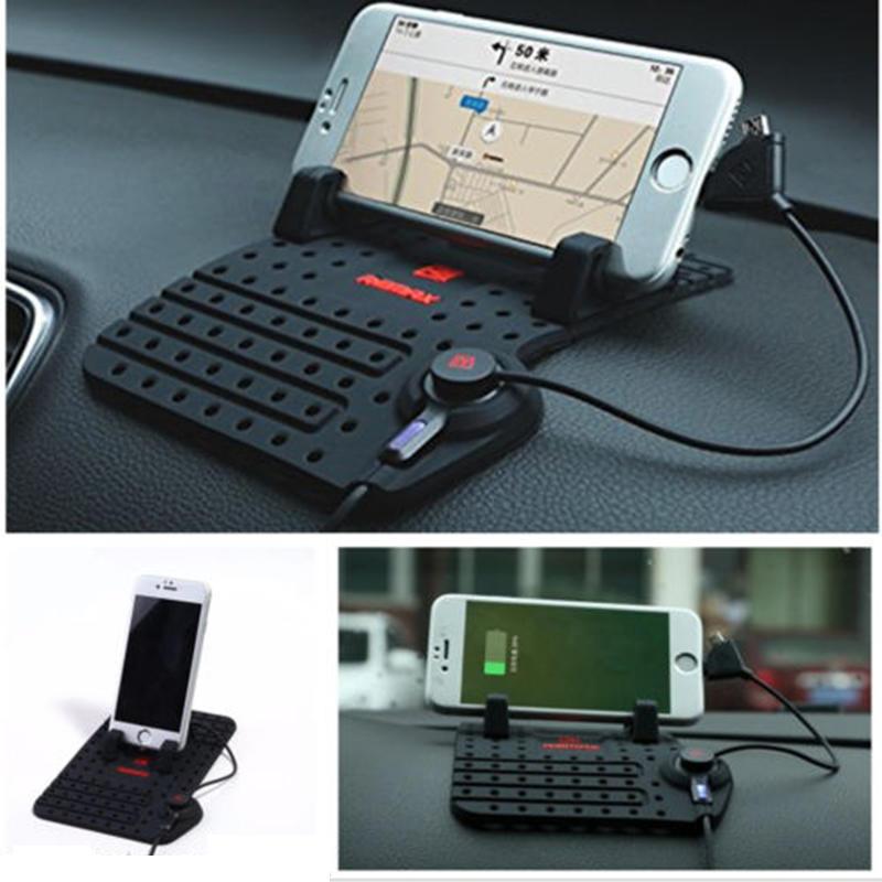 Автомобиля держатель приборной панели стенд USB гора Зарядное Колыбель нескользящей площадкой для... полироль для приборной панели atas plak amarena 400 мл
