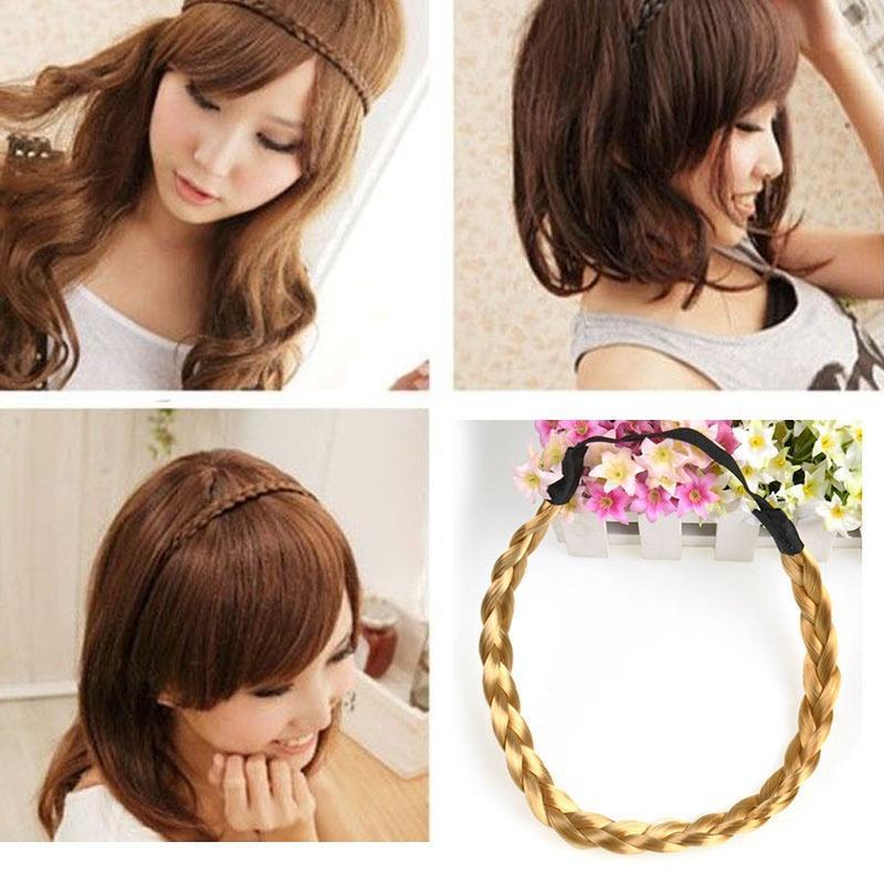 Женщины Кореи плетеные жгут плетеные волос обруч оголовье волосы лентой пояс эластичные плетеные заборы для дачи купить