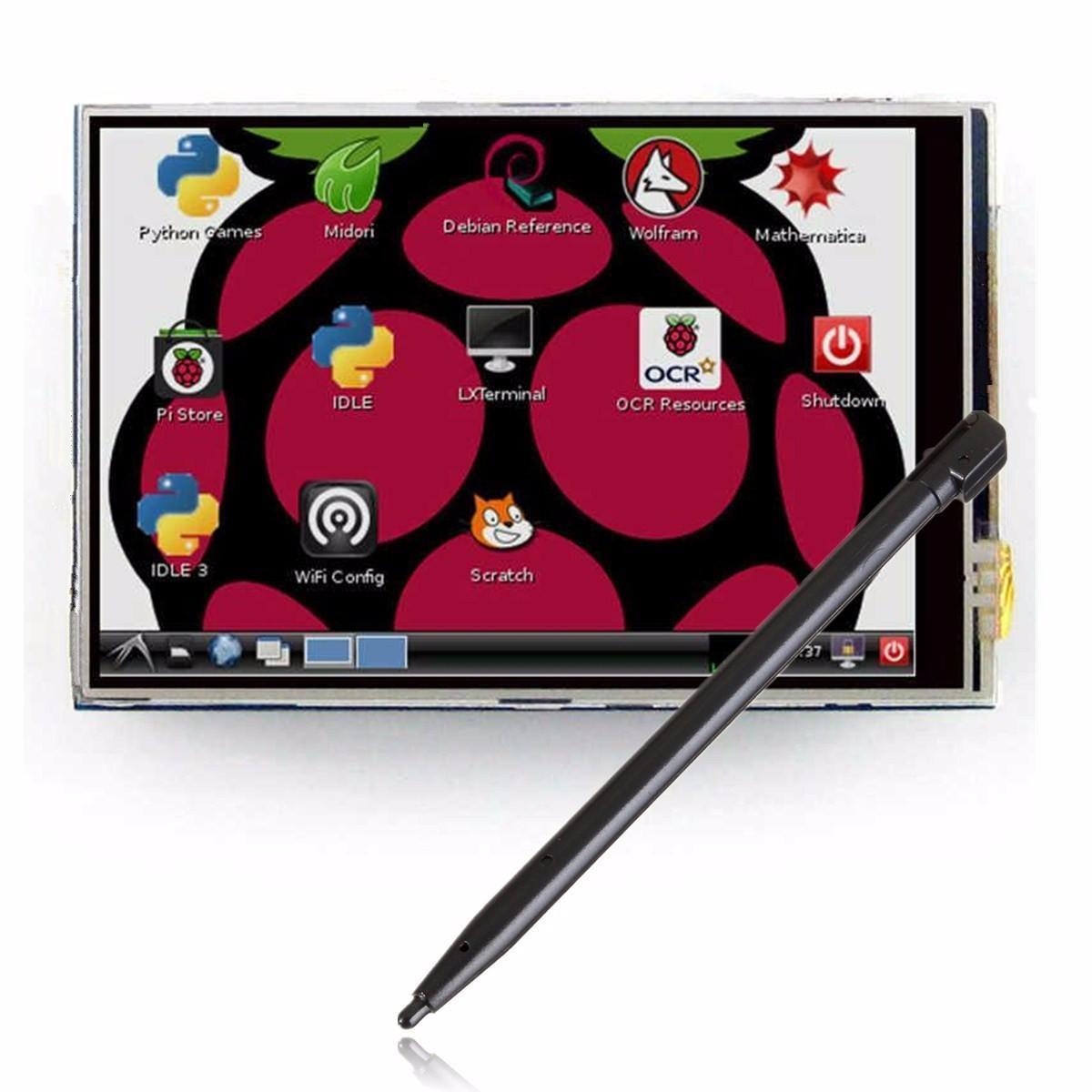 3,5 сенсорный экран дисплея модуль LCD доска 320 x 480 RGB для малины Pi 2 B + B доска для объявлений dz 1 2 j8b [6 ] jndx 8 s b