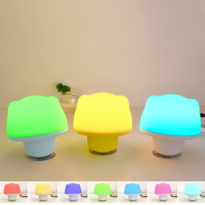 Красочных силиконовые легкие мини-USB прикроватные светодиодные ночь свет