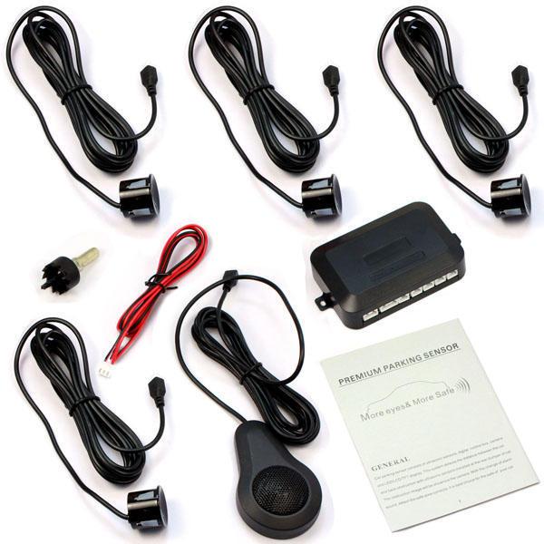 4 датчики парковки автомобилей голос комплект системы оповещения сигнализации резервного копирова... 4 датчики парковки автомобилей резервного обратный радар заднего зуммер сигнализации