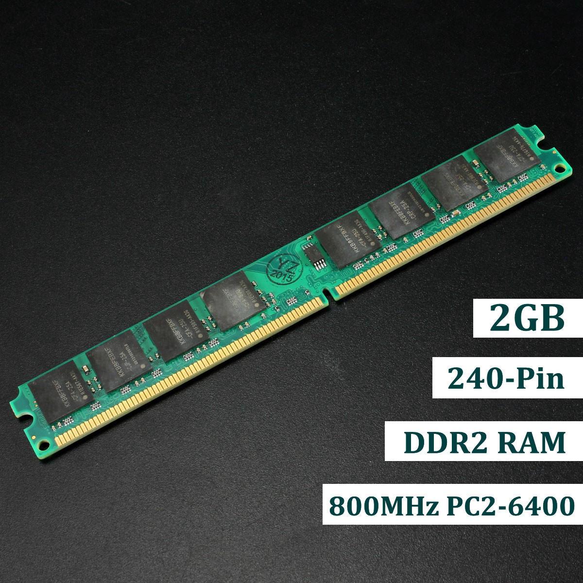 2 ГБ DDR2-800 PC2-6400 Non-ECC компьютер Desktop PC DIMM памяти RAM 240 контактов в новый for 2gb 1x2gb pc2 6400 ddr2 800 450260 b21 460424 001 with 1 year warranty