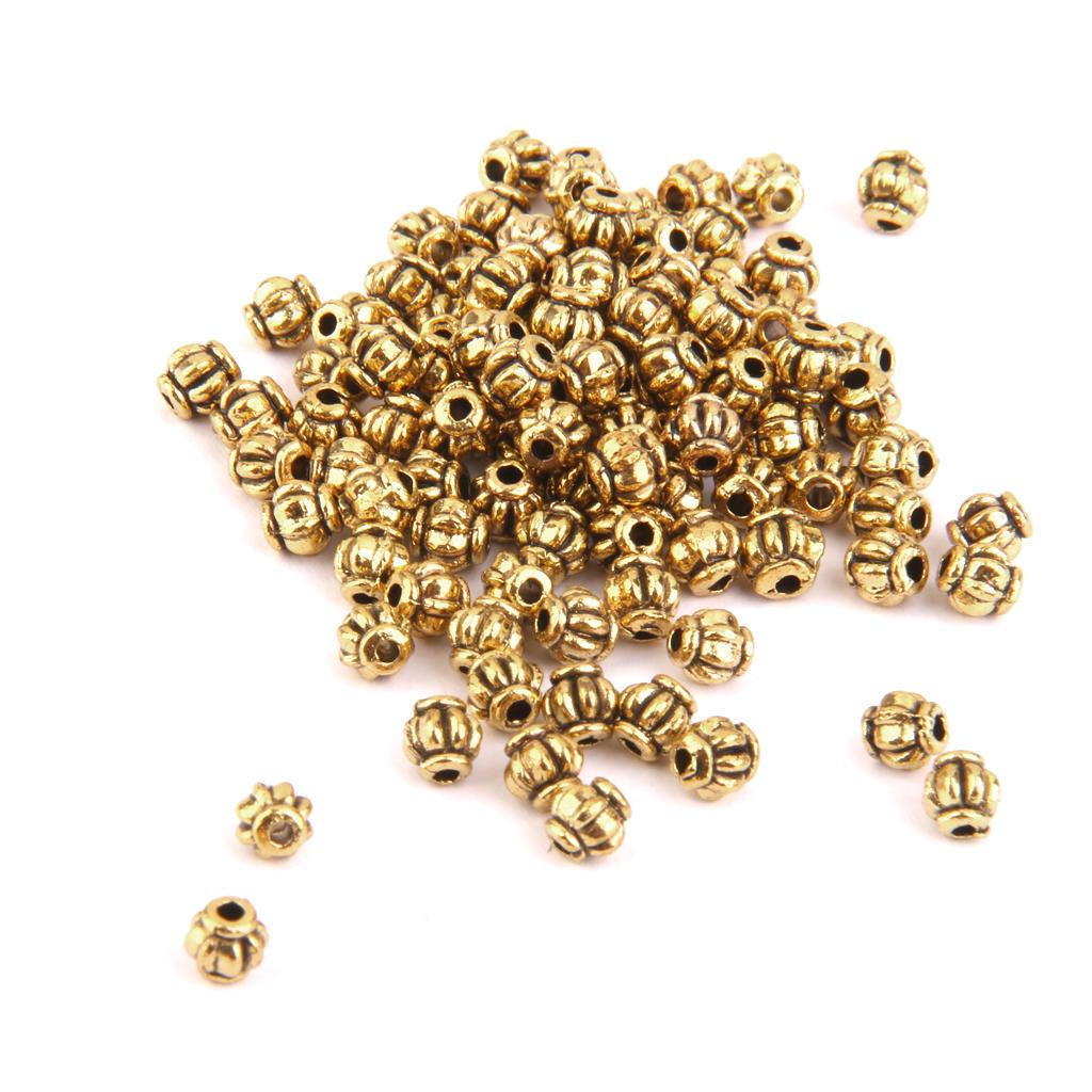 Тыква золотой сплав 100pcs Spacer Бусины 4 мм поиск семена тыква марсельеза