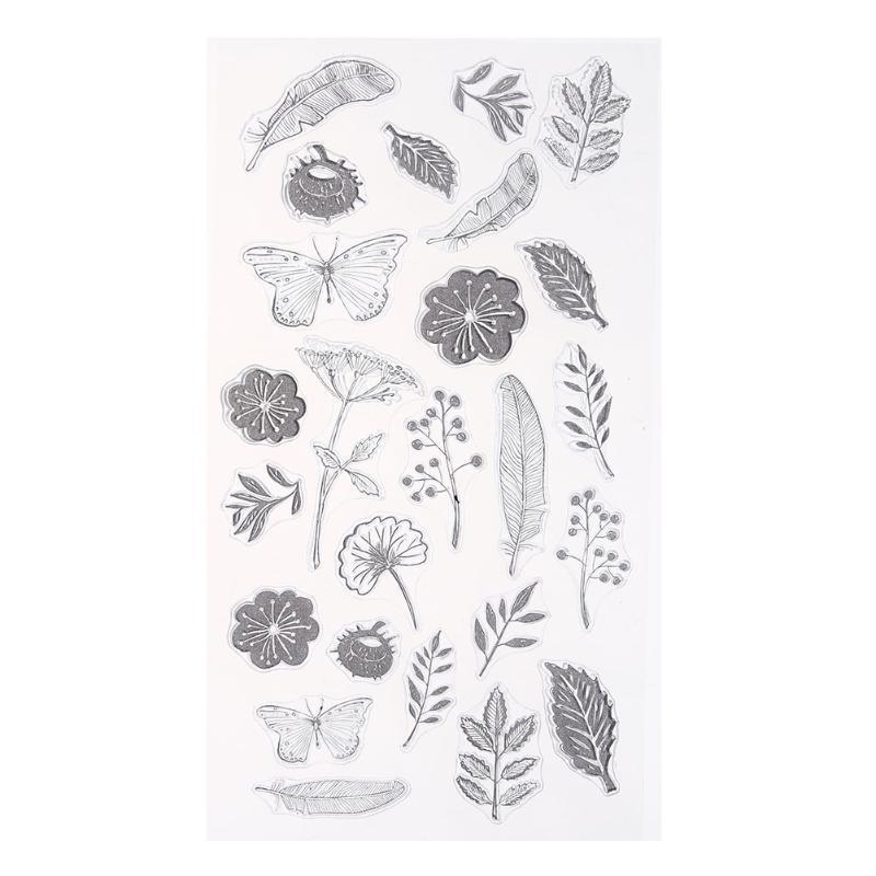 Листья цветы DIY силиконовые уплотнения марка наклейка фото альбом декор
