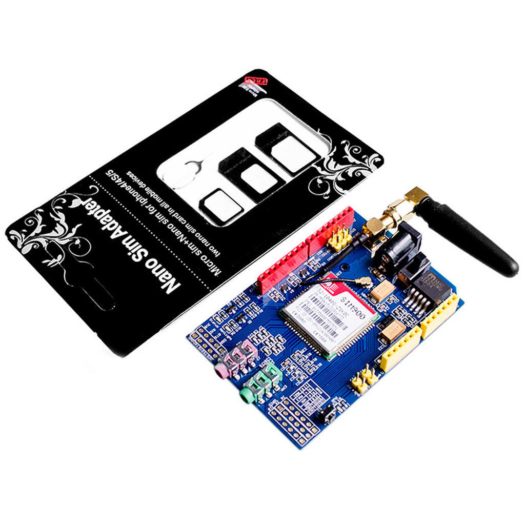 SIM900 Quad диапазона 4 частоты GSM GPRS щит Совет по развитию для Arduino soaringe updated sim900 gsm gprs v2 0 shield development doard for arduino new simcom
