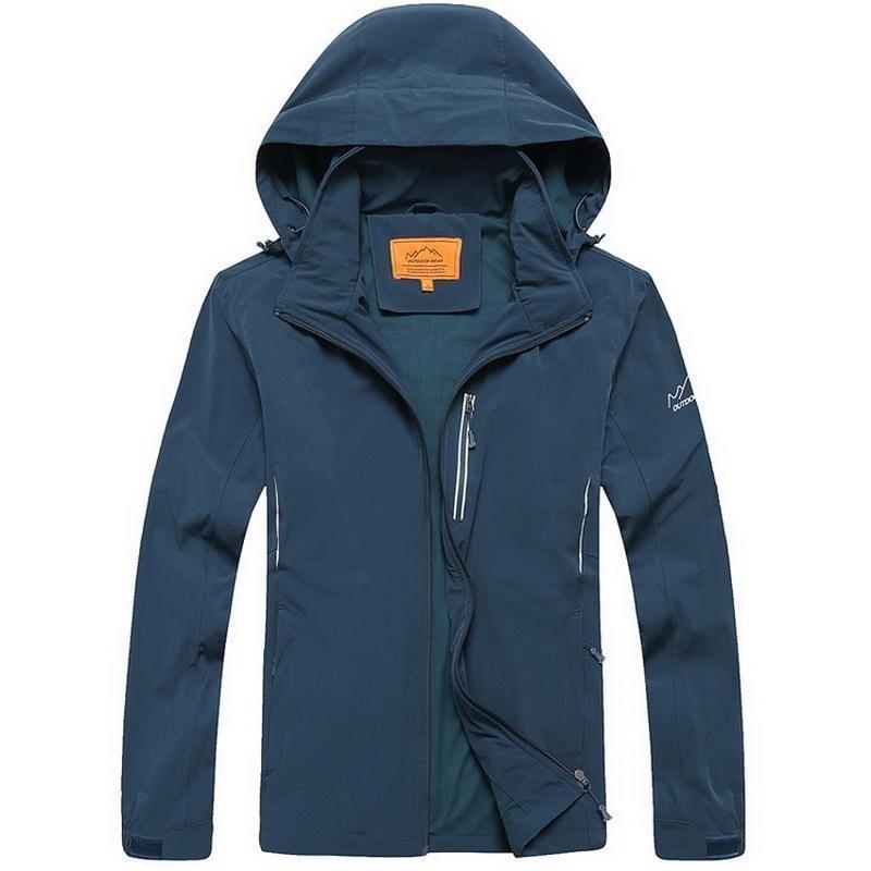 Куртка Softshell мужчин, водонепроницаемый спорта Пешие прогулки восхождение Куртка мужская тепло... мужская одежда для спорта