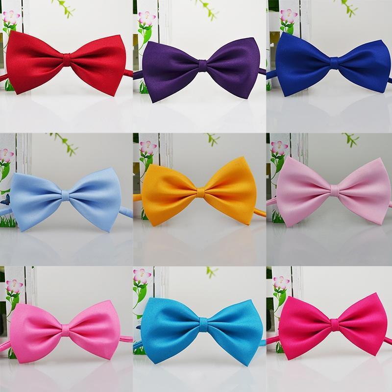 Baby Boy Детские ребенка младенческой сплошной цвет свадьба смокинг галстуки галстук-бабочку Neck... галстуки