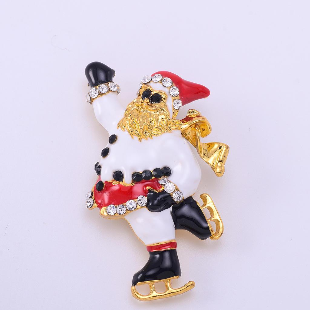Симпатичные катанию Санта брошь булавки Рождественский подарок Аксессуары для детей аксессуары для детей