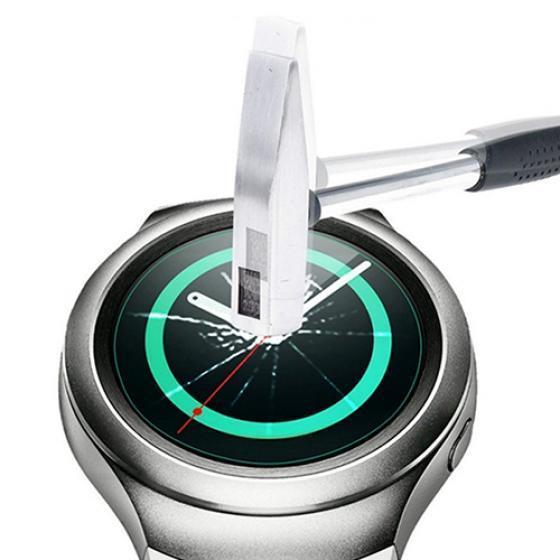 цена на Округлые закаленного стекла экран протектор для Samsung Gear S2 смарт-наручные часы
