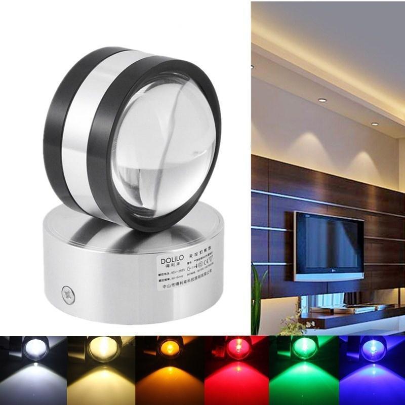 Современные алюминиевые 2W светодиодные стены лампы потолочные лампы ТВ стены прихожей освещение ... лампы освещение