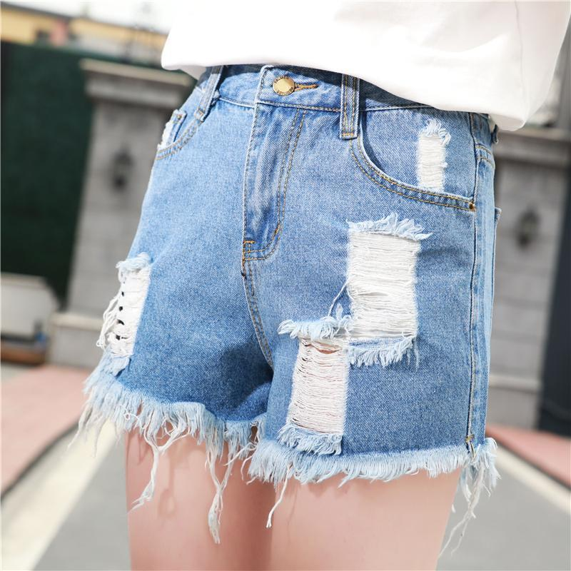 Модные женские джинсы летние середины талии джинсовые шорты повседневные женщин джинсы шорты отве...