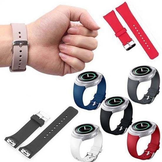 цена на Унисекс силиконовый ремешок ремешок для часов замена для Samsung Galaxy S2 Gear R720 TR