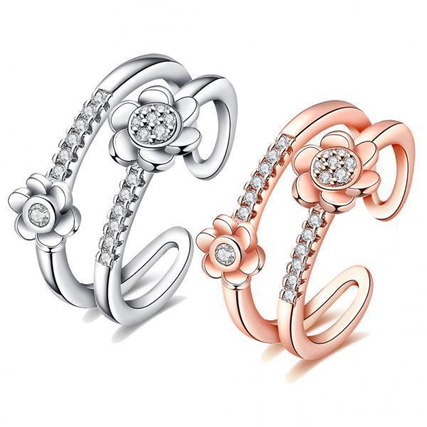 Роза женщин золото / серебро обручальные кольца 467140