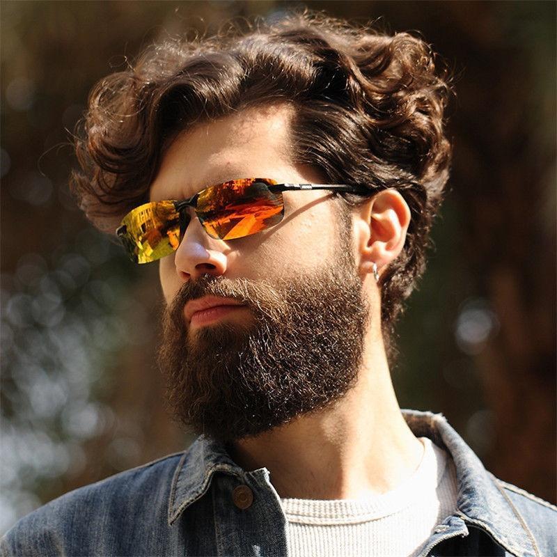 HD-Polarized-Mens-Sunglasses-Outdoor-Sports-Pilot-Eyewear-Driving-Glasses-New 2017 ftiier multi lens cycling glasses polarized riding bicycle sunglasses goggles driving eyewear outdoor sports sunglasses