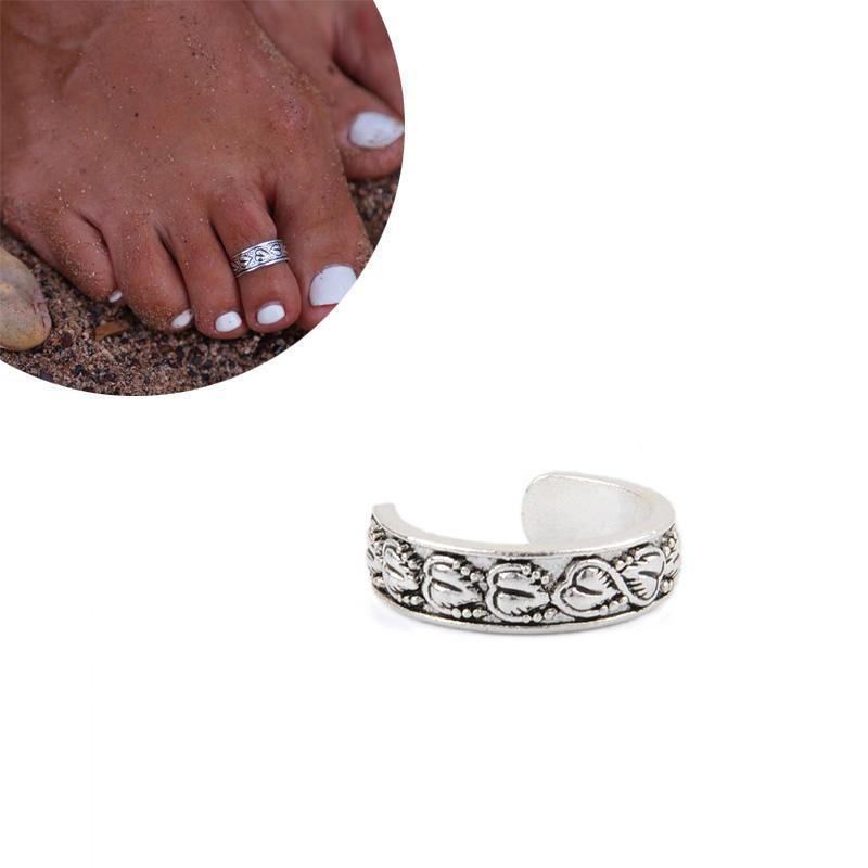 Знаменитости ювелирные ретро серебряный регулируемым открытых ног безымянный палец ноги знаменитости в челябинске