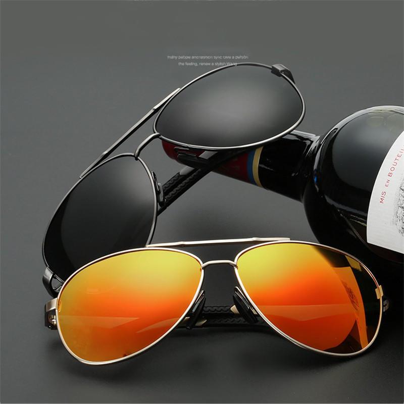 UV400 Защиты Sun дизайн логотипа бренда очки водительские очки очки Oculos De Sol поляризованные ... new arrival men s polarized sunglasses male sports eyewear sun glass outdoor activities fishing oculos de sol gafas de sol d0657