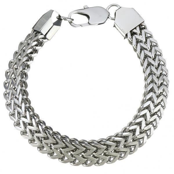 Панк-Серебряные Мужские цепочки ссылка браслет браслет браслет ювелирные изделия нержавеющей стали