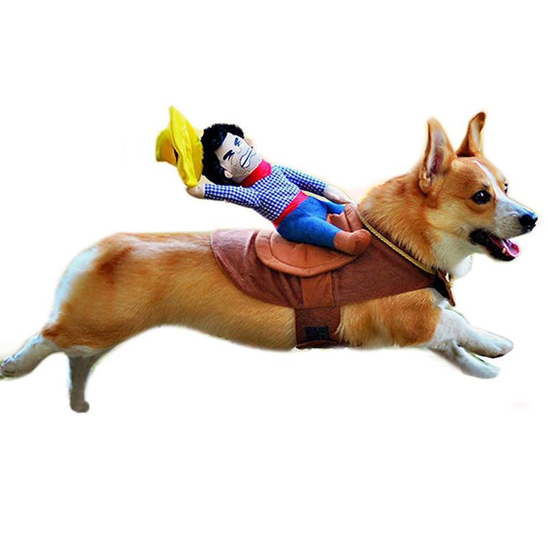 Собака собака верховой ковбой костюм Хэллоуин ковбой смешные костюмы собака всадников одежду соба... костюмы wonderkids костюм