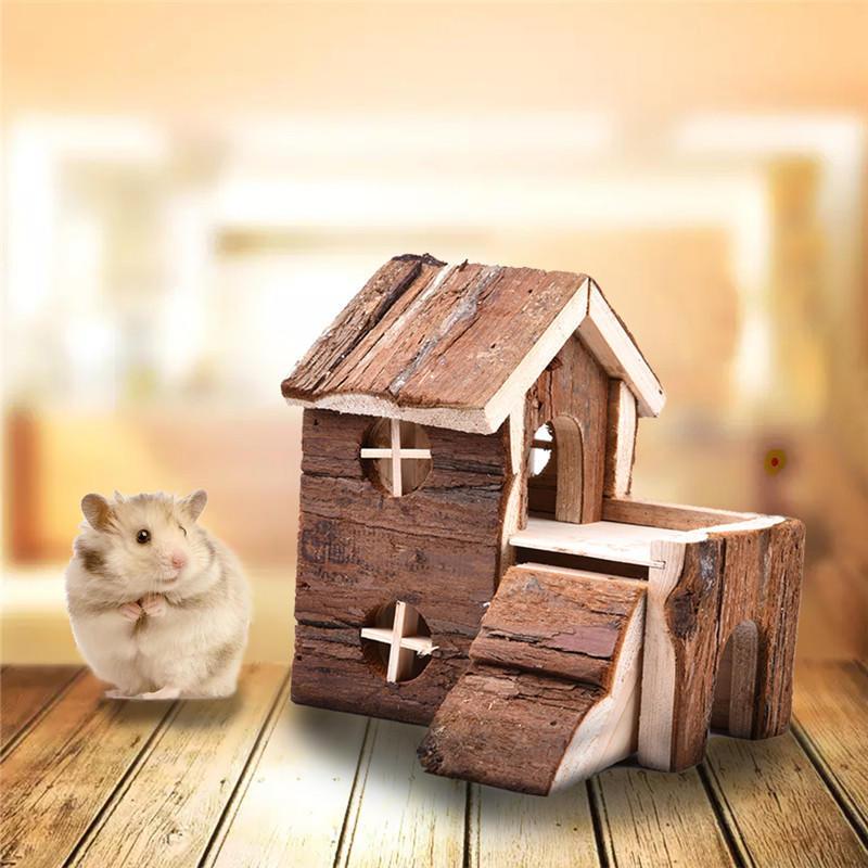 Изысканный дом 2 этажный деревянный дом для хомяка снт куйбышевец горы 2 дом