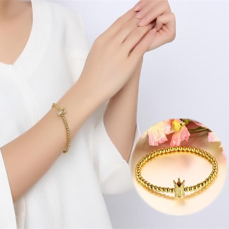 Мода женщин позолоченный Корона бисером браслет ювелирных изделий вышивка бисером молящийся христос