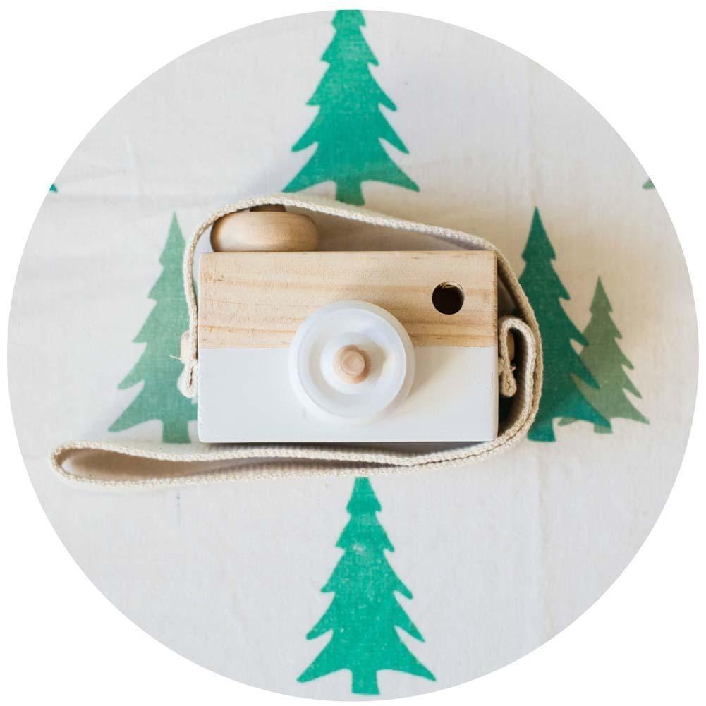 Обучение исследование игрушка древесины камеры образовательные игрушки для детей детей Baby белый игрушки для детей