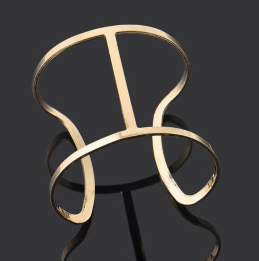 Мода браслет ювелирных изделий панк браслет Металлические унисекс женщин простой золото