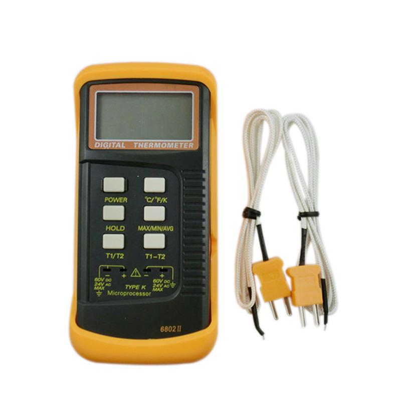 Новый двухканальный цифровой термометр с датчиком термопары K-типа зонды
