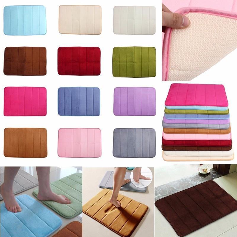 Память пены коврик ванной Коврик для ванной спальни Non-slip коврики ковер 40 * 60 см