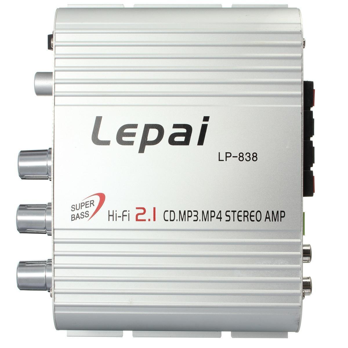 Звука LePai LP-838 мини Hi-Fi 2.1 CD MP3 мотоцикл автомобиль аудио стерео усилитель 12V aborted aborted retrogore lp cd