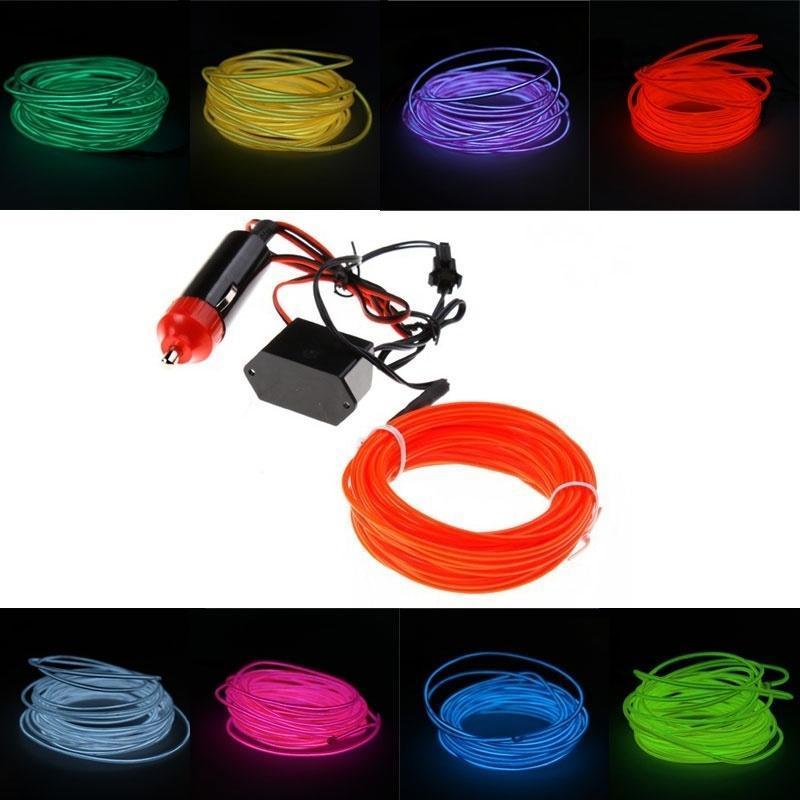 16 футов 5M гибкие неоновый свет СИД-Эль-Wire автомобиля с инвертор 12В joseluis corral el cid